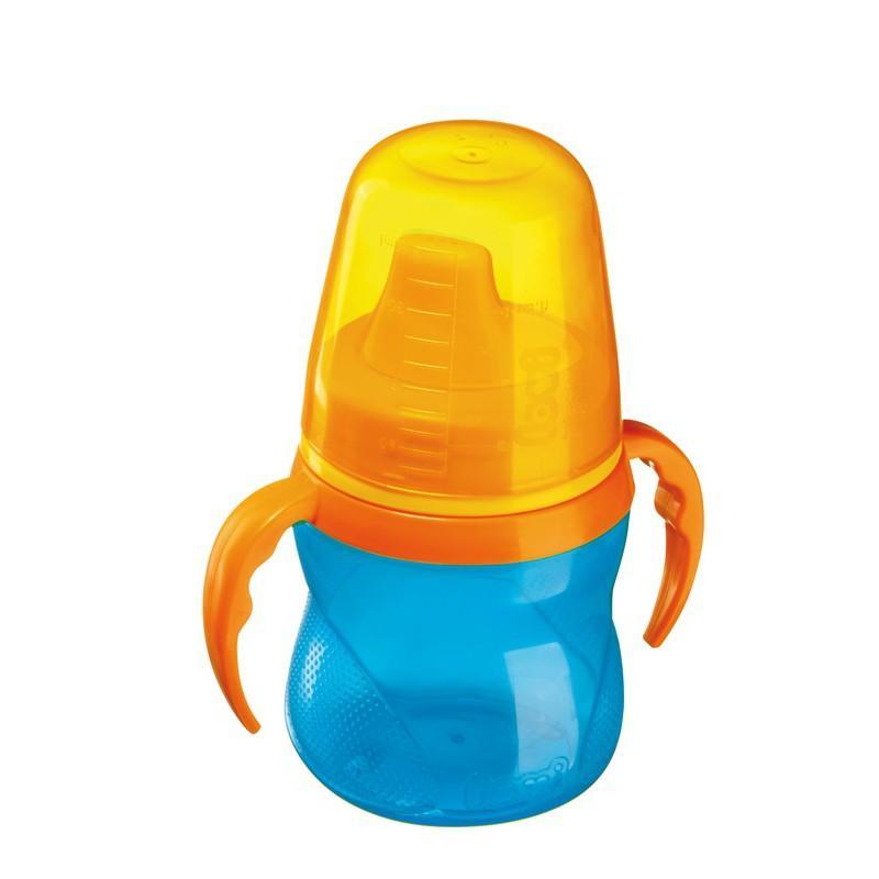 LOVI nevylévací hrníček 150 ml bez BPA - modrý