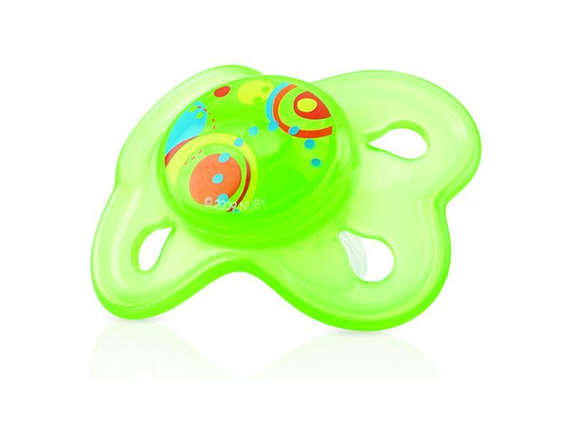 Nuby Dudlík silikonový s masážními výstupky - zelená