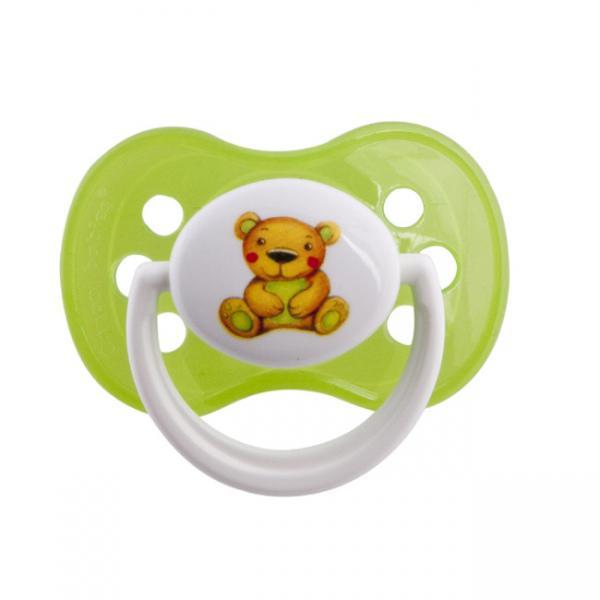 Canpol babies dudlík silikonový symetrický 6-18m MILKY - zelená