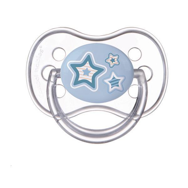 Canpol babies dudlík silikonový symetrický Newborn Baby 0-6m - modrá