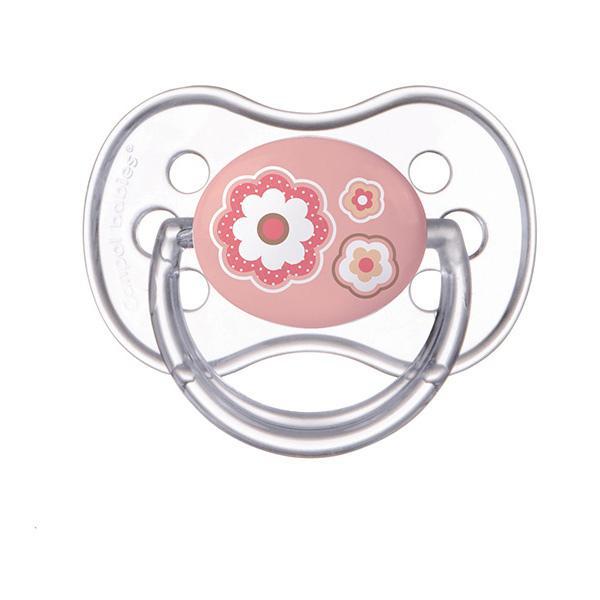 Canpol babies dudlík silikonový symetrický Newborn Baby 18m+ - růžová