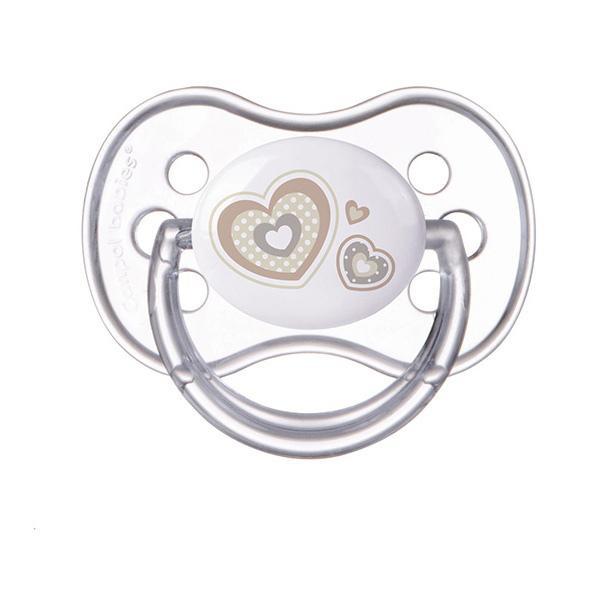 Canpol babies dudlík silikonový symetrický Newborn Baby 6-18m - béžová