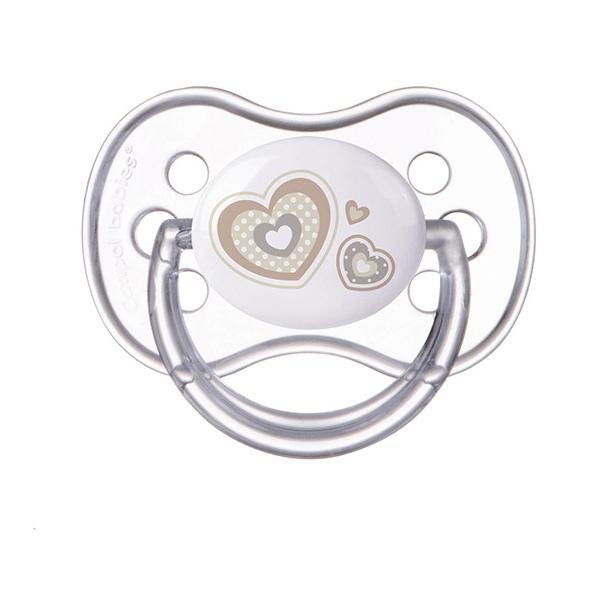 Canpol babies dudlík silikonový třešinka Newborn Baby 6-18m - béžová
