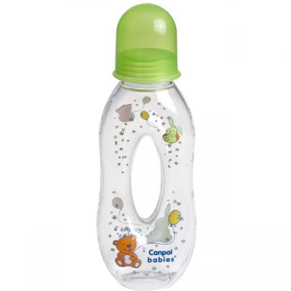 Canpol babies láhev slza 250 ml 6m+ - zelená