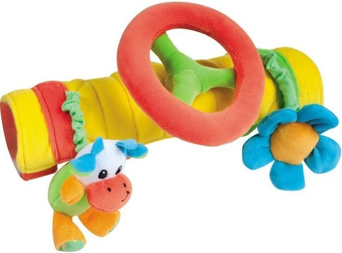 Canpol babies plyšová hračka na madlo s volantem - oranžová/   kravička