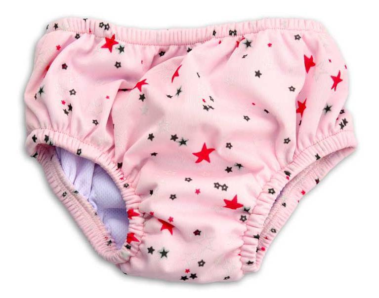 Batolini plenkové plavky - růžové hvězdičky L