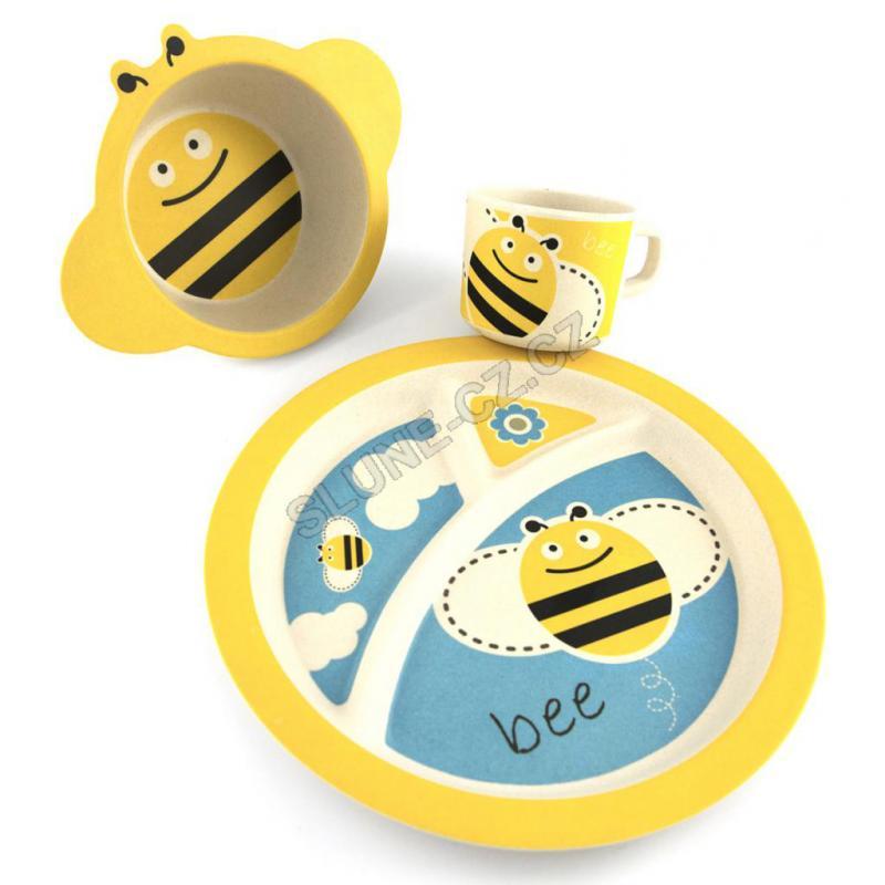 Pure Kids sada nádobí s hrnečkem, 12m+ - včelka