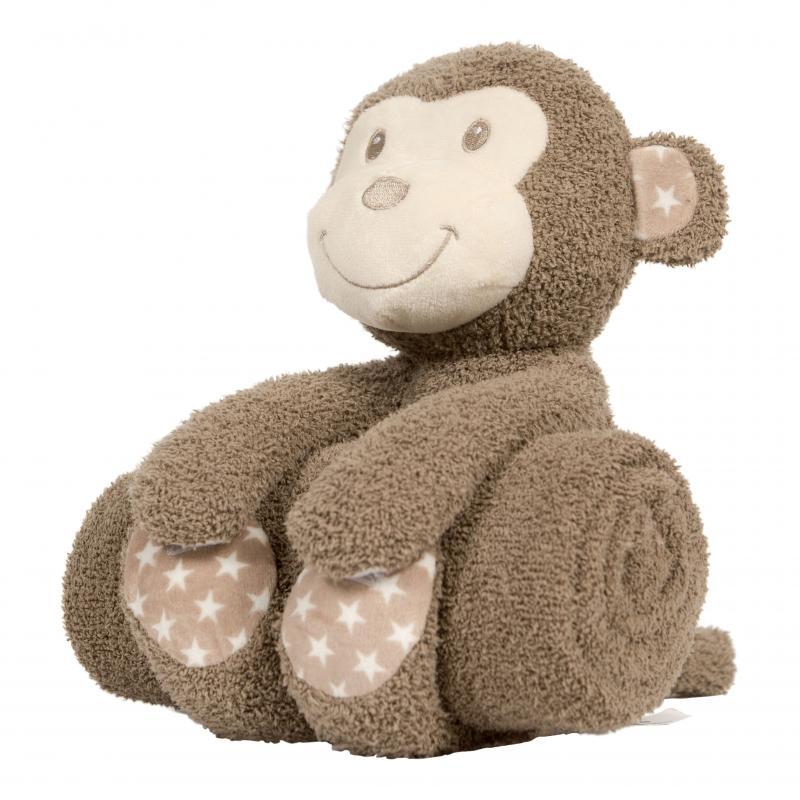 Bo Jungle plyšová hračka s dekou - Monkey