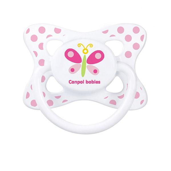 Canpol babies dudlík silikonový symetrický 6-18m SUMMERTIME - růžová