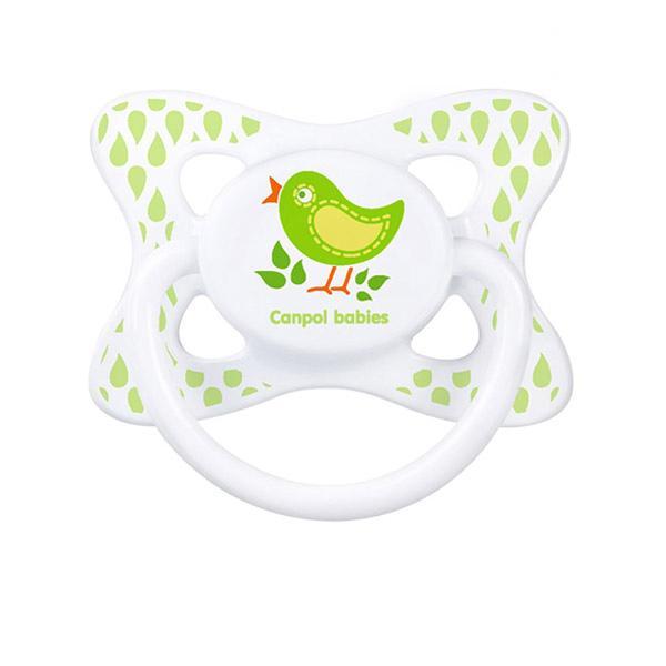 Canpol babies dudlík silikonový symetrický 6-18m SUMMERTIME - zelená