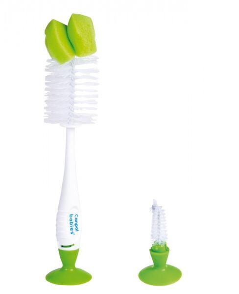 Canpol babies kartáč na čištění láhví s přísavkou - zelená