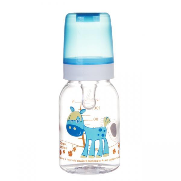 Canpol babies láhev s potiskem Happy Animals 120 ml 3m+ - koník