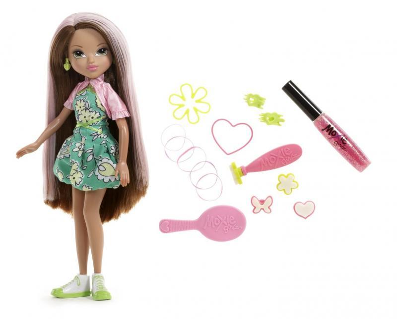 Moxie Girlz s kouzelnými razítky na vlasy - brunetka