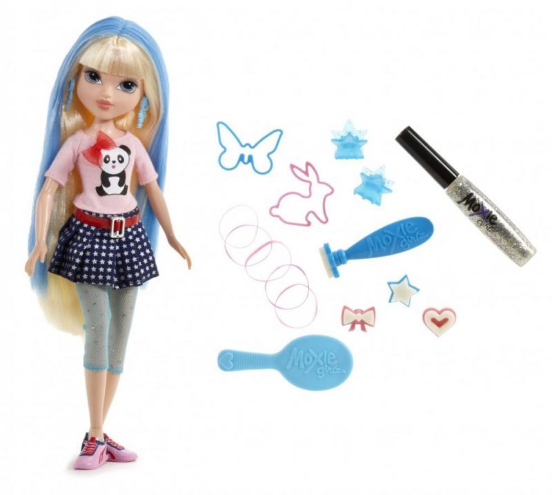 Moxie Girlz s kouzelnými razítky na vlasy - blondýnka