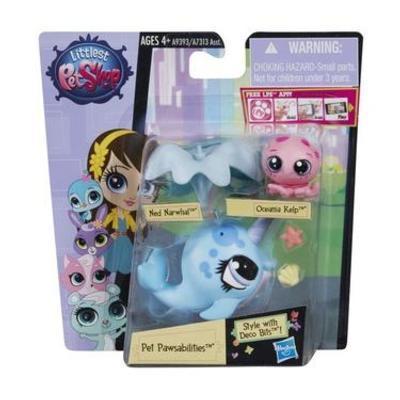Hasbro Littlest Pet Shop Maminka s miminkem zdobitelné - Ned Narwhal