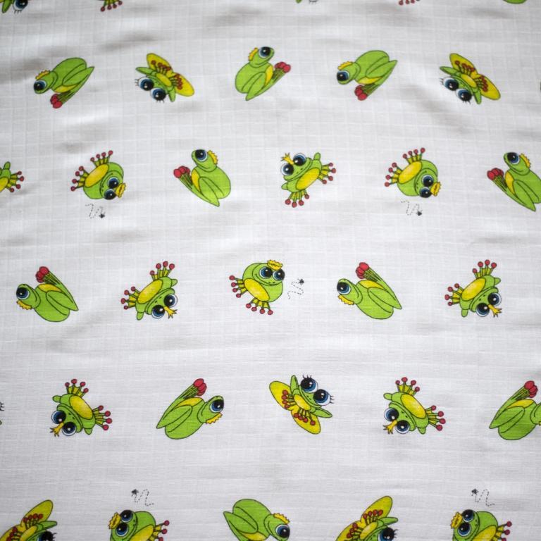 LTZ - Bavlněná žínka tetra 14x19 cm - žabí princ