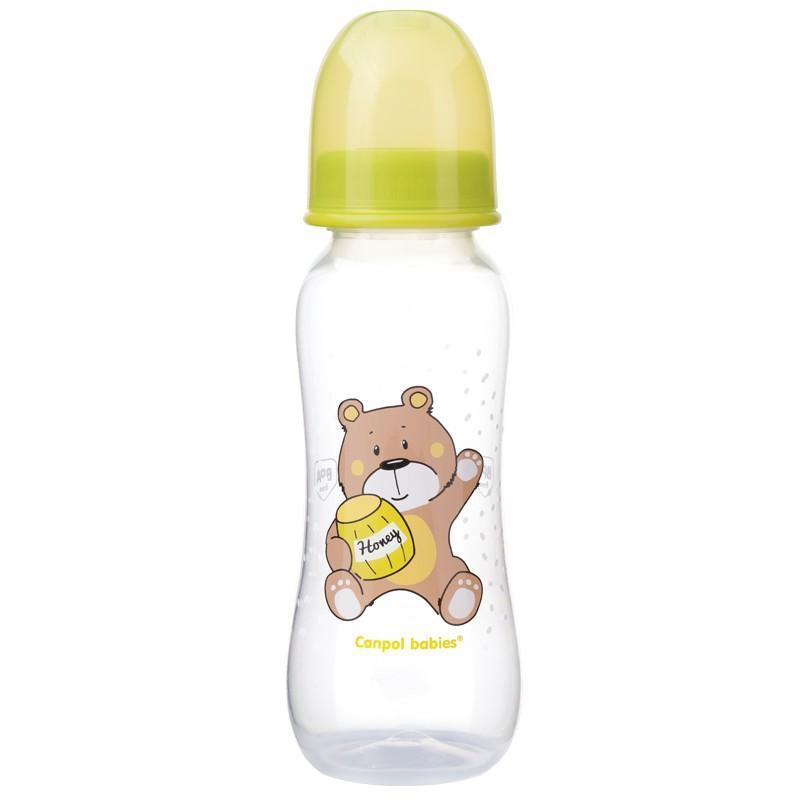 Canpol babies láhev s potiskem My dream 250 ml bez BPA - zelená