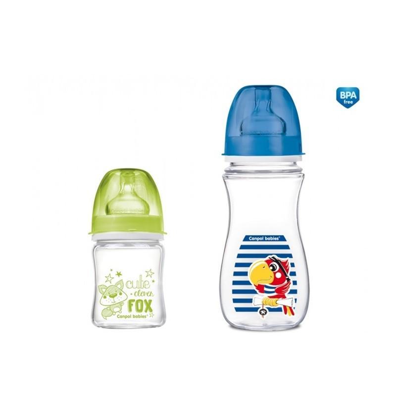 Canpol babies láhev EasyStart PURE glass 120 ml limitovaná edice - zelená