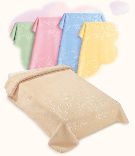 Scarlett Španělská deka akrylová - vytlačený vzor 518 - žlutá