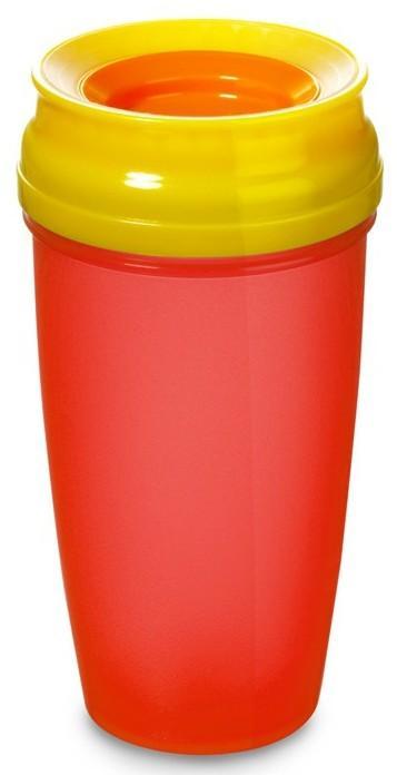 LOVI nevylévací hrníček 360° ACTIVE 350 ml bez BPA - červená