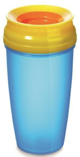 LOVI nevylévací hrníček 360° ACTIVE 350 ml bez BPA - modrá