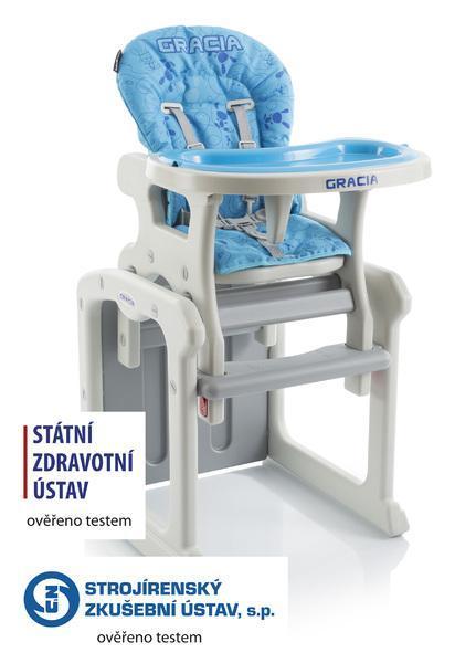 Jídelní židlička Babypoint Gracia 2017 - modrá