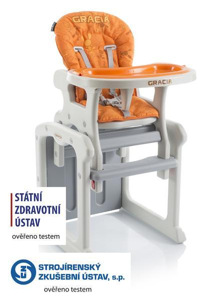 Jídelní židlička Babypoint Gracia 2017 - oranžová