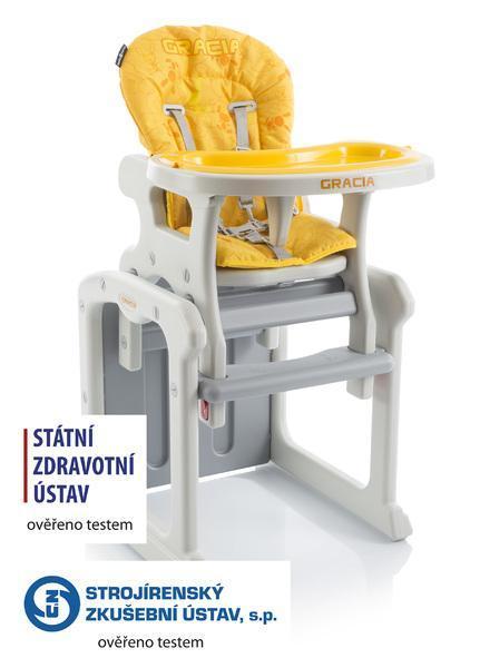 Jídelní židlička Babypoint Gracia 2017 - žlutá