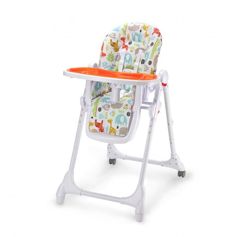 Jídelní židlička Petite&Mars Zola - oranžová