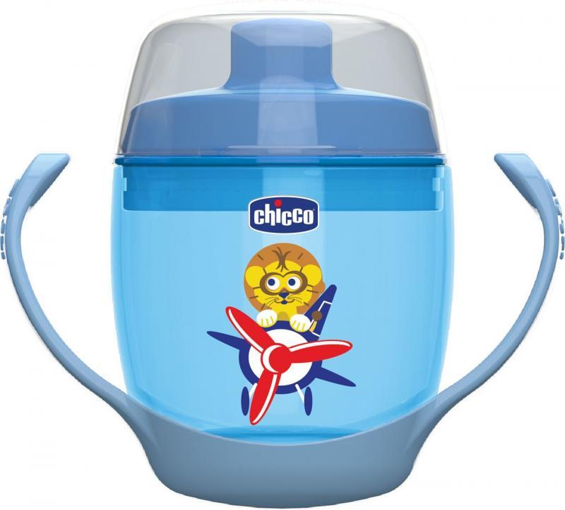 Chicco hrnek 123 180 ml, 12m+ - modrý