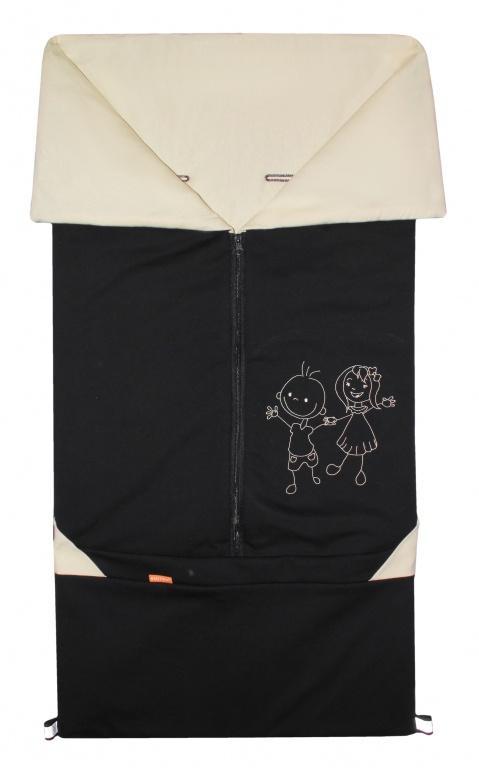 Emitex Fusak 2v1 Bary bavlna - černá+béžová