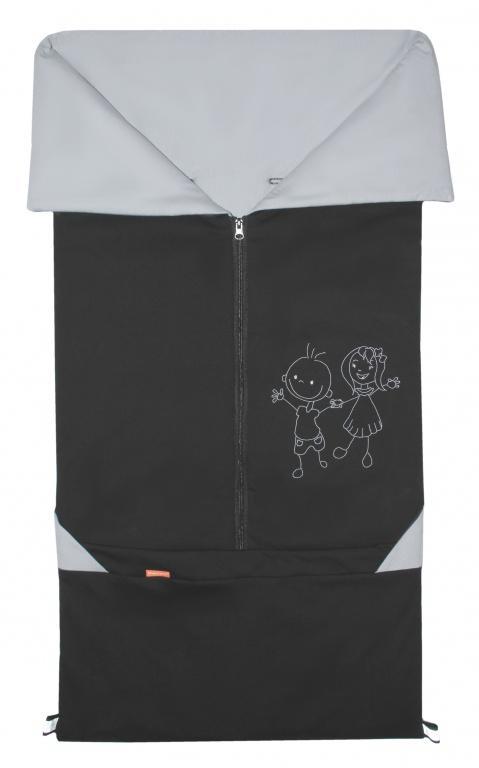 Emitex Fusak 2v1 Bary bavlna - černá+šedá