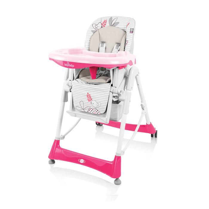 Jídelní židlička Baby Design Bambi 2017 - 08 pink