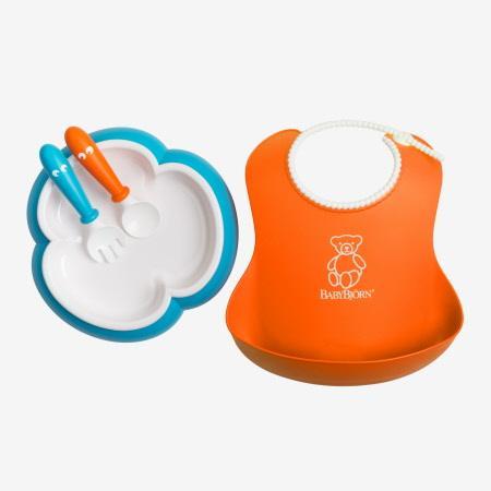 BabyBjörn jídelní set - Orange/Tyrkys