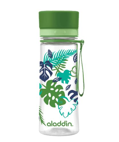 Aladdin AVEO lahev na vodu 350 ml - zelená s potiskem
