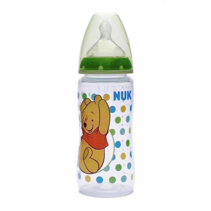Nuk First Choice+ láhev Medvídek Pú 300 ml - zelená