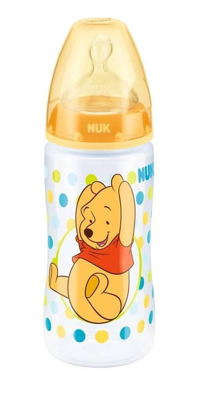 Nuk First Choice+ láhev Medvídek Pú 300 ml - žlutá