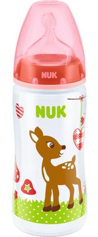 NUK First Choice+ PP láhev Baby Glück, 300 ml - červená