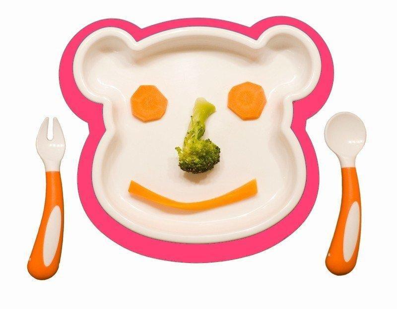 Farlin jídelní sada medvídek - růžová