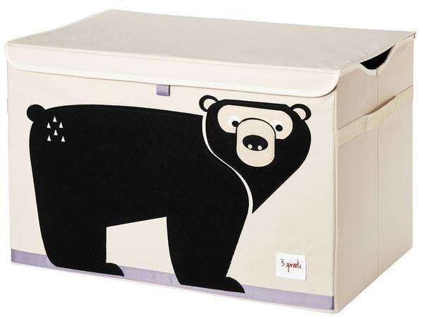 3 Sprouts Toy Chest - uzavíratelná bedýnka na hračky - Bear (medvěd)
