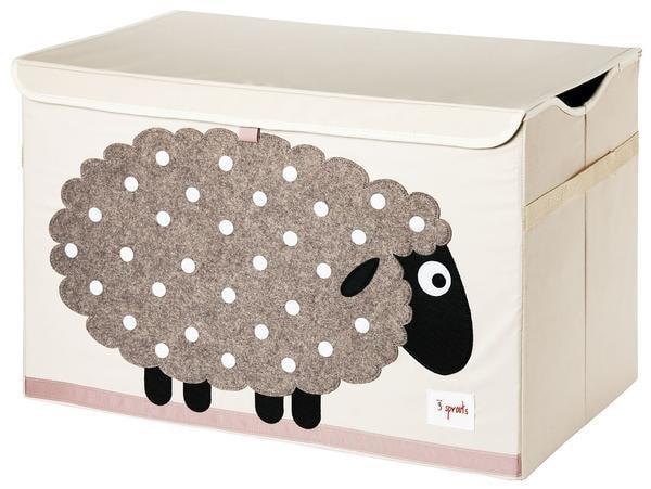 3 Sprouts Toy Chest - uzavíratelná bedýnka na hračky - Sheep (ovce)