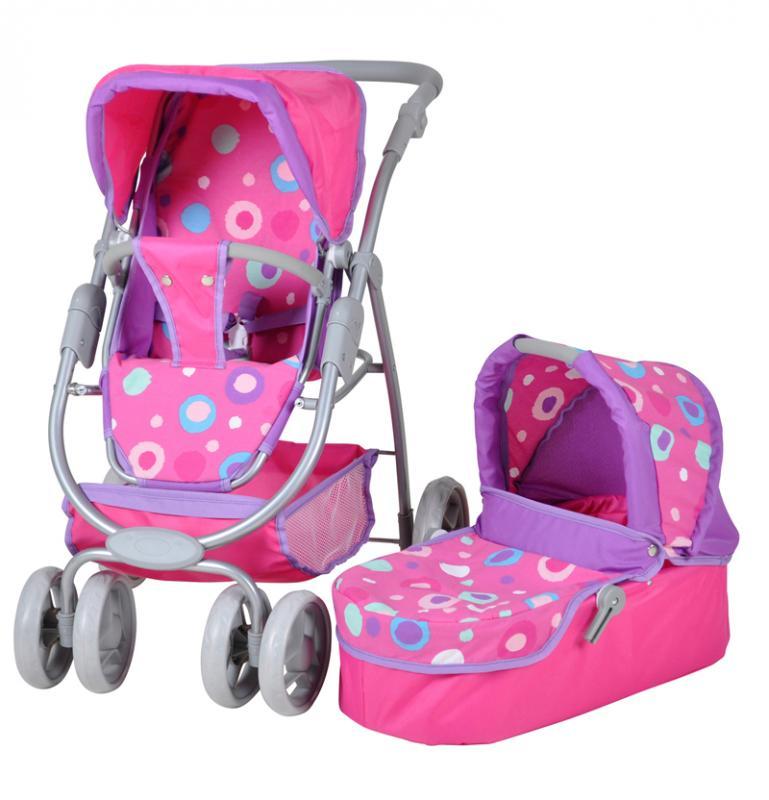 Knorrtoys Kočárek pro panenky COCO - pink splash