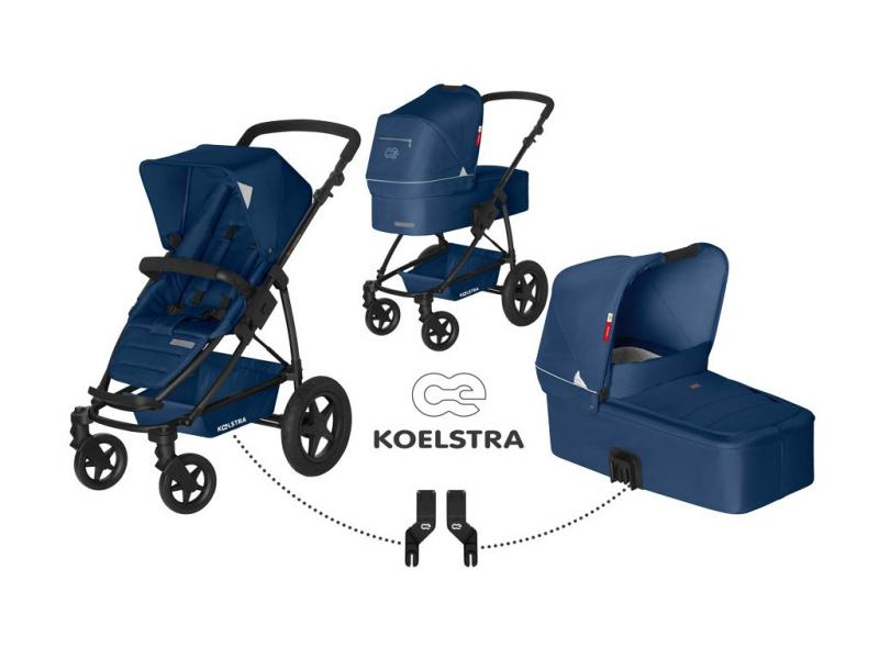 Kočárek Koelstra Binque Daily s hlubokou korbou a adaptérem Maxi-Cosi 2017 - Marina Blue