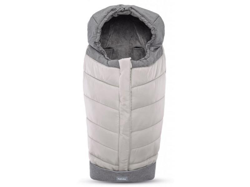 Inglesina fusak Winter Muff pro kombinovaný/sportovní kočárek - silver