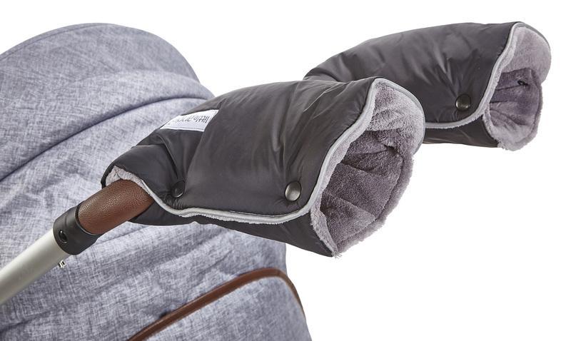 Little Angel rukavice Mazlík - černá/šedá