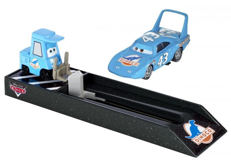 Mattel Cars Závodní vystřelovač - Dinoco (světle modrý)
