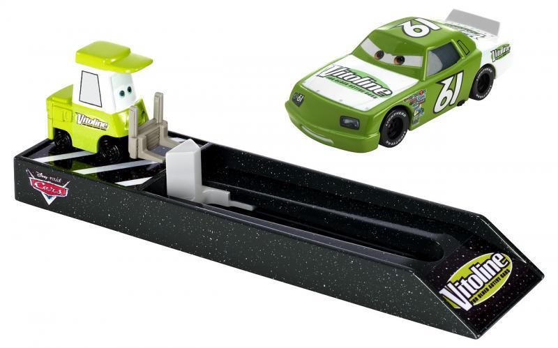 Mattel Cars Závodní vystřelovač - Vitoline (světle zelený)