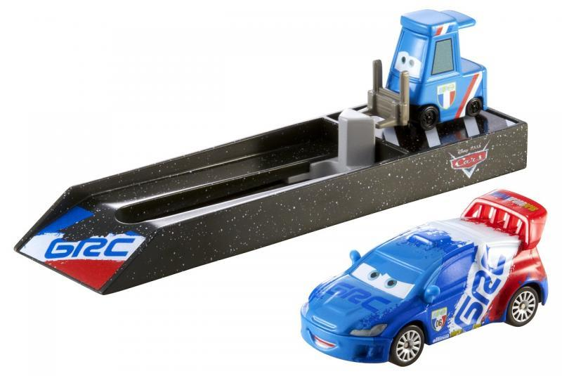 Mattel Cars Závodní vystřelovač - GRC (modročervený)