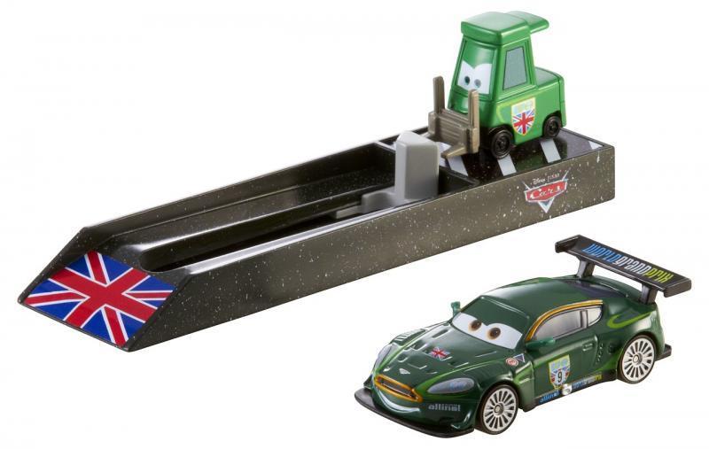 Mattel Cars Závodní vystřelovač - Anglie (tmavě zelený)