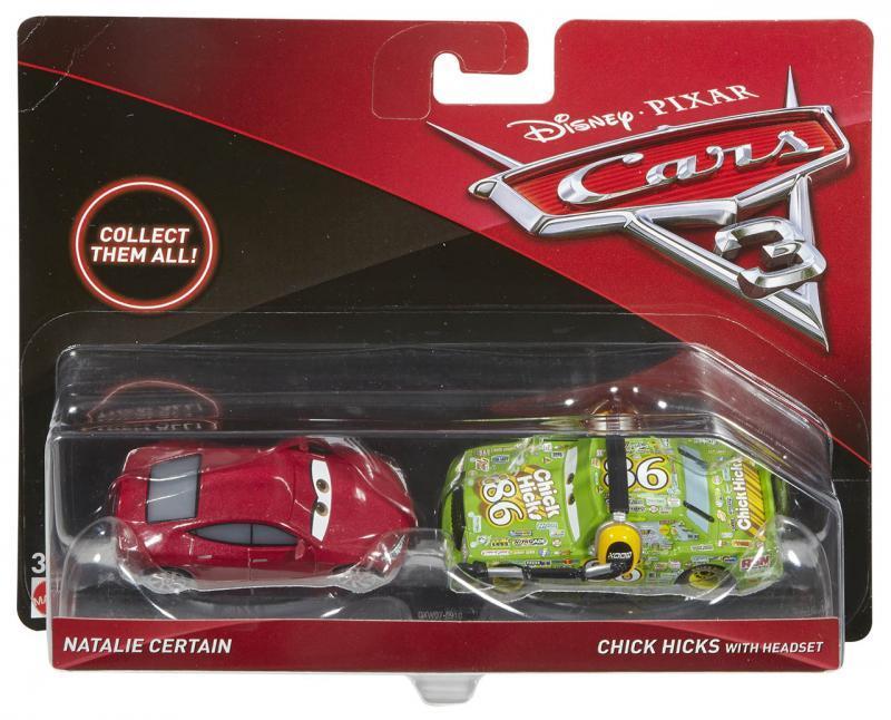 Mattel Cars 3 Auta 2ks - Natalie Certain/ Chick Hicks